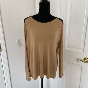 Chico's Tan Long Sleeved Top
